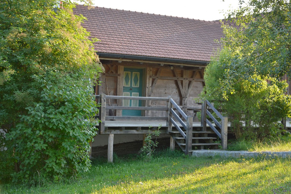Eingang zur Ferienwohnung im Getreidekasten