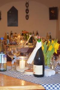 Bayerische Geselligkeit bei einer Familienfeier