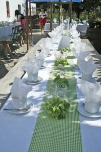 Der Biergarten auf dem Thalhauser Hof eignet sich ideal als Location für eine Hochzeit.